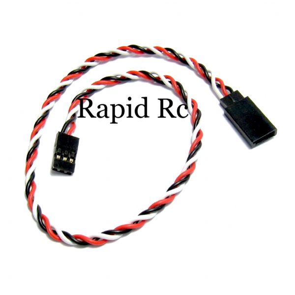 "KUZA Twisted 12""-305mm 22 AWG Servo Extension"